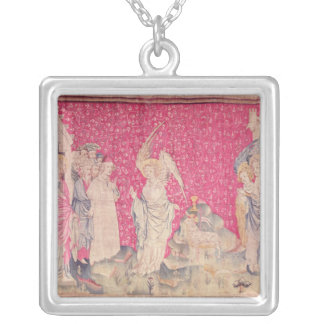 The Third Angel and the Lamb Silver Plated Necklace