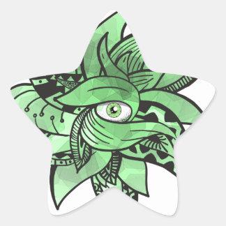 The third buddhist eye pretty(awesome) doodle star sticker
