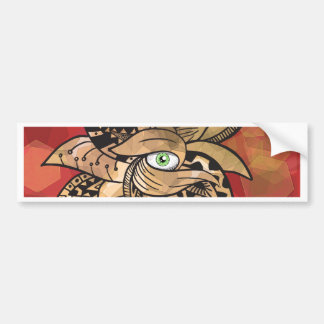 The third eye pretty(awesome) doodle bumper sticker