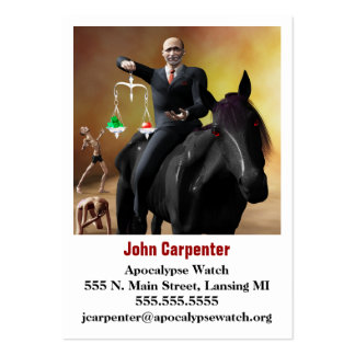 The Third Horseman Large Business Card