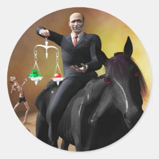 The Third Horseman Round Sticker