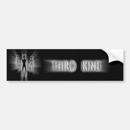 The Third Kind Abduction Car Bumper Sticker
