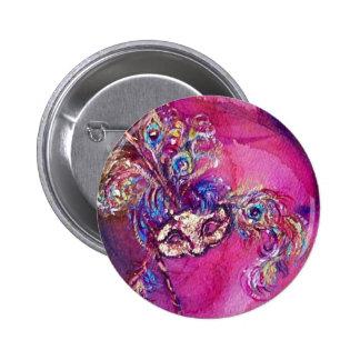 THE THIRD MASK - / Venetian Mardi Gras Masquerade Button