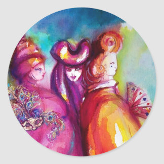THE THIRD MASK/ Venetian Masquerade Classic Round Sticker