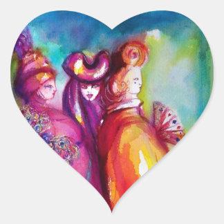 THE THIRD MASK/ Venetian Masquerade Heart Heart Sticker