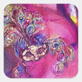THE THIRD MASK/ Venetian Masquerade Square Sticker