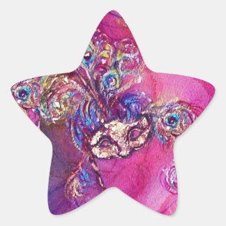 THE THIRD MASK/ Venetian Masquerade Star Star Sticker