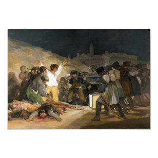 The Third of May 1808 by Francisco Goya Custom Invitations