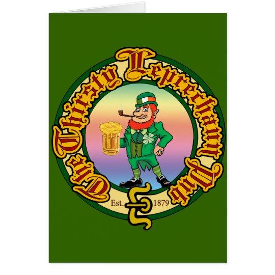 The Thirsty Leprechaun Pub Card
