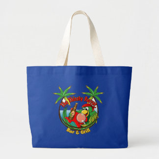 The Thirsty Parrot Bar & Grill Large Tote Bag
