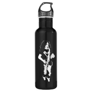 The Thirsty Sax Player Silhouette Stainless Steel Water Bottle