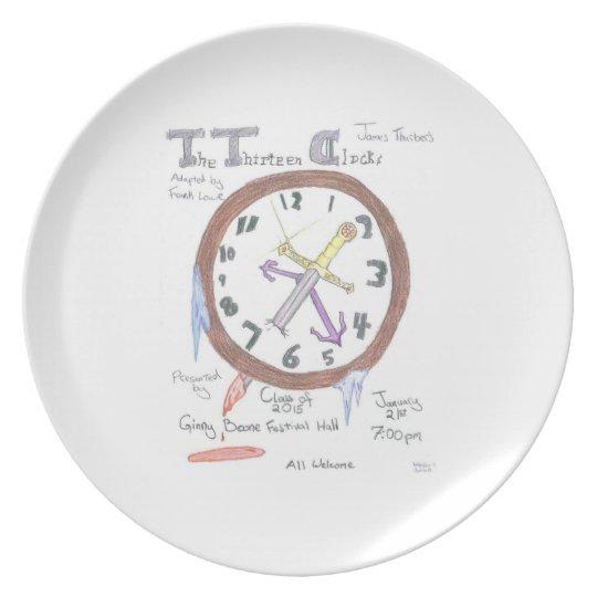 The Thirteen Clocks - plate