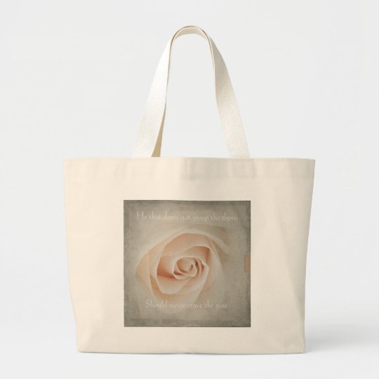 The thorn and the rose large tote bag