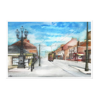 The Thornaby 5 Lamps and the Tram Canvas Print