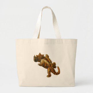 The thorny devil large tote bag