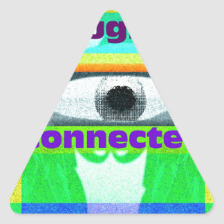 The thought of our inter-connectedness triangle sticker