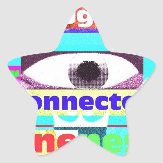 the thought of our intrinsic inter-connectedness star sticker