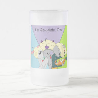 The Thoughtful One Crew 16 Oz Frosted Glass Beer Mug