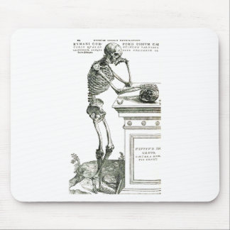 The Thoughtful Skeleton Mouse Pad