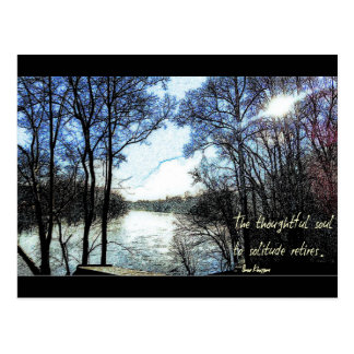 The thoughtful soul... postcard