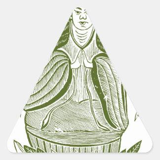 The Thousand-handed Kwan Yin Triangle Sticker