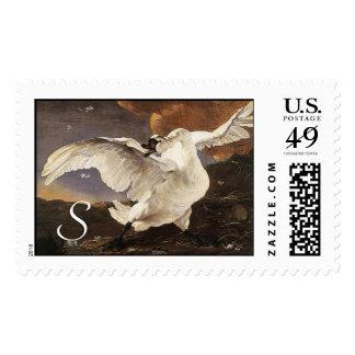 The Threatened Swan Monogram Postage Stamp