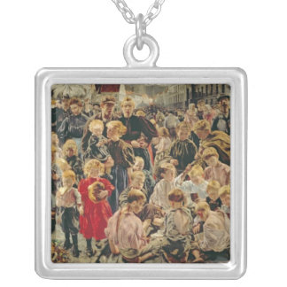 The Three Ages of a Working Man, 1895 Silver Plated Necklace