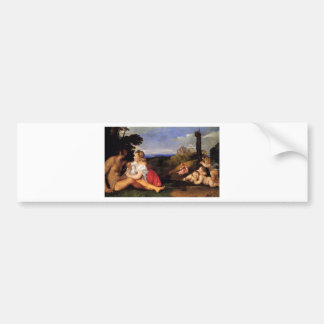 The Three Ages of Man by Titian Bumper Sticker