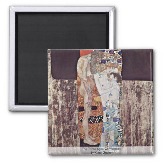 The Three Ages Of Woman By Klimt Gustav 2 Inch Square Magnet