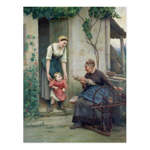 The Three Ages Postcard