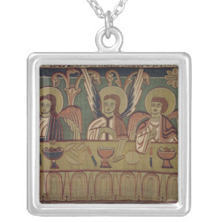 The Three Angels, from the Story of Abraham Silver Plated Necklace