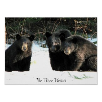 The Three Bears, The Three Bears Print