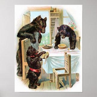"""""""The Three Bears"""" Vintage Print"""