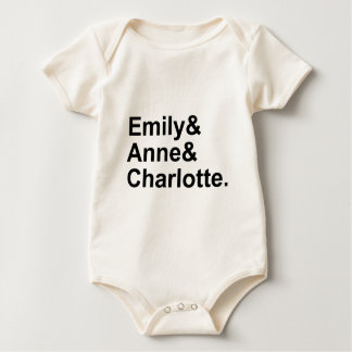 The Three Bronte Sisters | Emily Charlotte Anne Baby Bodysuit