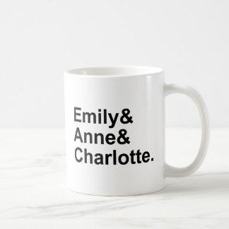 The Three Bronte Sisters | Emily Charlotte Anne Classic White Coffee Mug