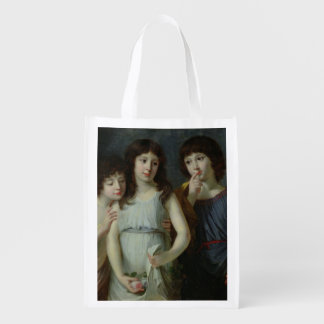 The Three Children of Monsieur Langlois Reusable Grocery Bag