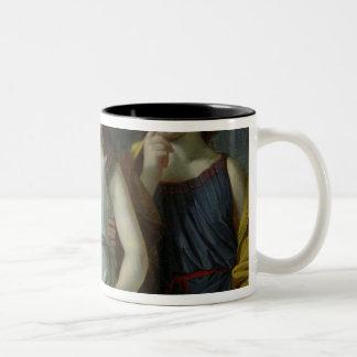The Three Children of Monsieur Langlois Two-Tone Coffee Mug