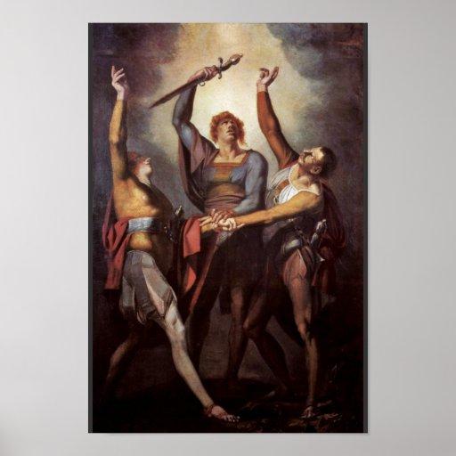 The Three Confederates During The Oath Rütli (Rütl Posters