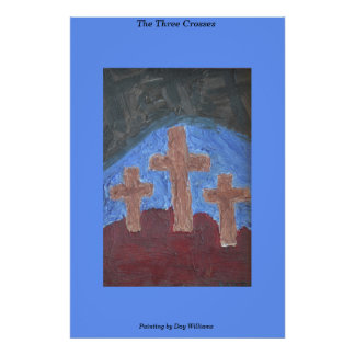 The Three Crosses Print