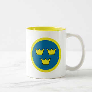 The Three Crowns of Sweden Two-Tone Coffee Mug
