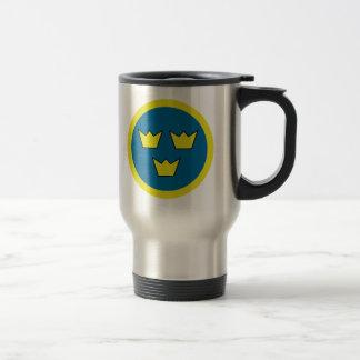 The Three Crowns of Sweden Travel Mug
