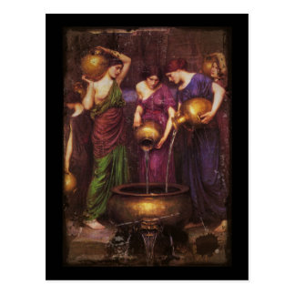 The Three Danaides Filling Cauldron Postcard