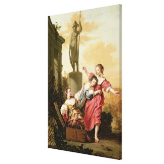 The Three Daughters of Cecrops Canvas Print