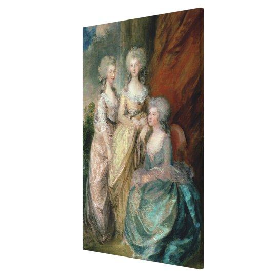 The three eldest daughters of George III: Princess Canvas Print