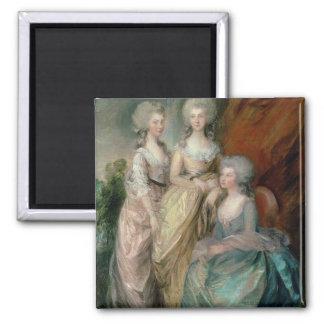 The three eldest daughters of George III: Princess Refrigerator Magnets