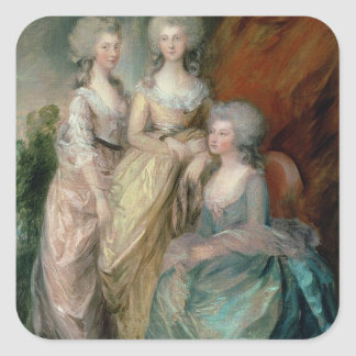 The three eldest daughters of George III: Princess Square Sticker