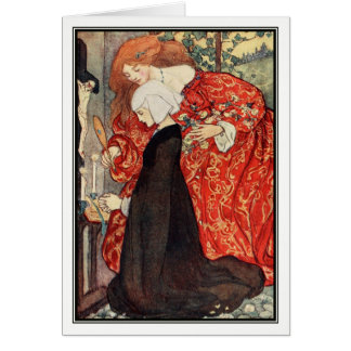 The Three Enemies by Florence Harrison Greeting Card