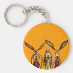 The three evils keychain