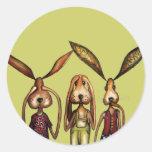 The three evils round sticker
