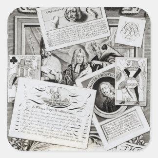 The Three False Brethren Square Sticker